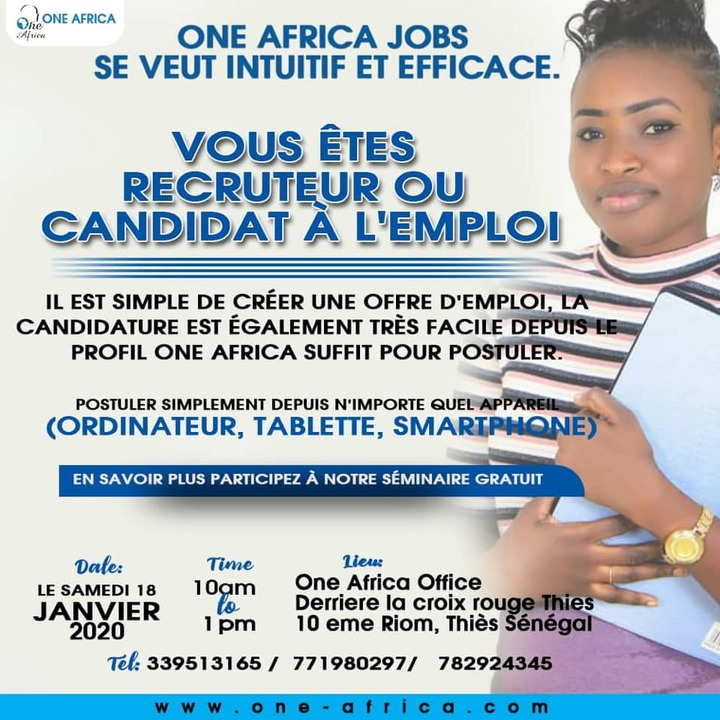 One Africa Job  Seminare