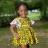 Princess Cocoa Lace and Wax Multi Print Dress