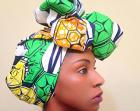 Ankara Green\/Yellow Headwrap