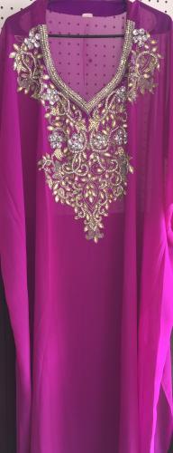 Abaya with beads