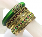 Emerald Green Vintage Bracelet Set