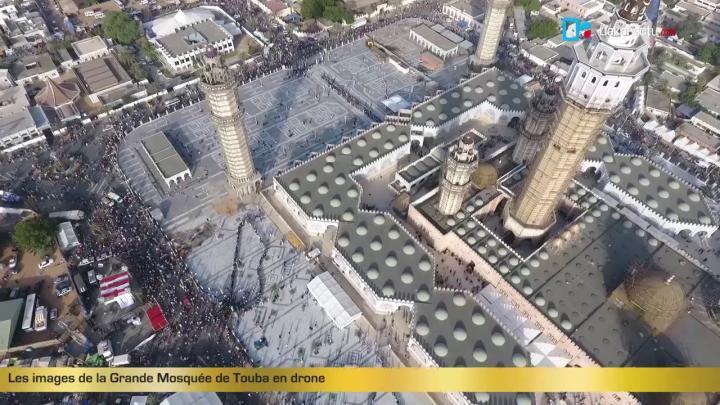 Les images de la grande mosque\u0301e de Touba en drone