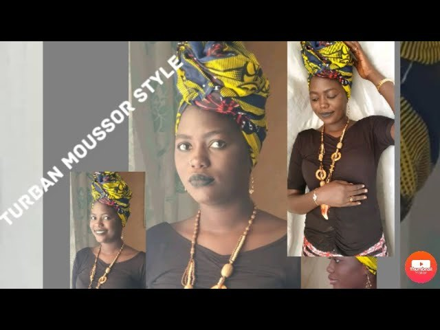 Tutoriel afro turban moussor